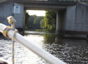 Der Elisabethfehn-Kanal. Passen wir da durch?