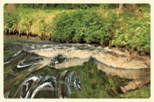 Unsere Heckwelle im kleinen E-Fehn-Kanal